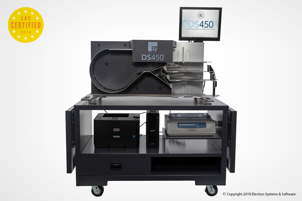 The DS450 Is A Federally-Certified Central Scanner And Tabulator