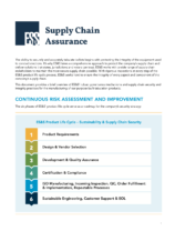 Cover page of ES&S' Supply Chain Assurance document