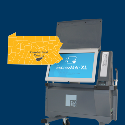 ES&S' case study for Cumberland County, Pennsylvania, highlights the successful implementation of 400 ExpressVote XL units.