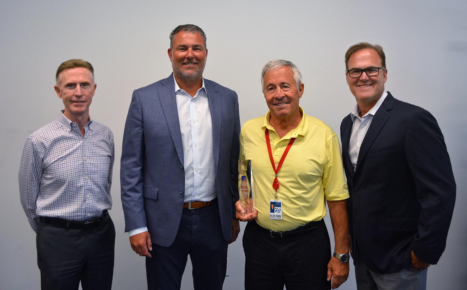 From left to right: Tom O'Brien, Tom Burt, 2021 Chairman's Award Winner Todd Urosevich, and Jim Schmidt