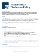 Cover pages of ES&S' Vulnerability Disclosure Policy